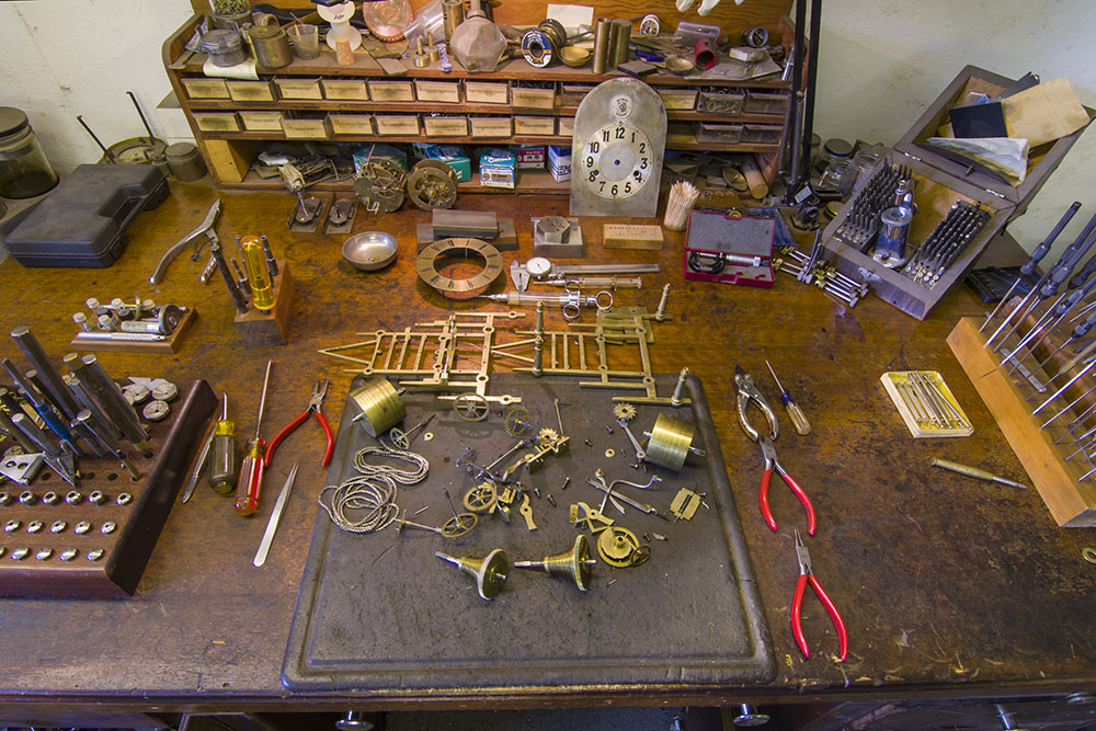 Clock repair bench